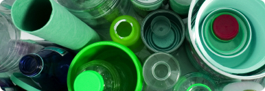 image of recycled bottles